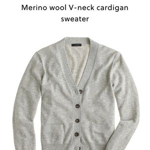 J. Crew merino wool v neck cardigan in pink